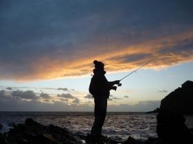 bass-fishing-at-dusk