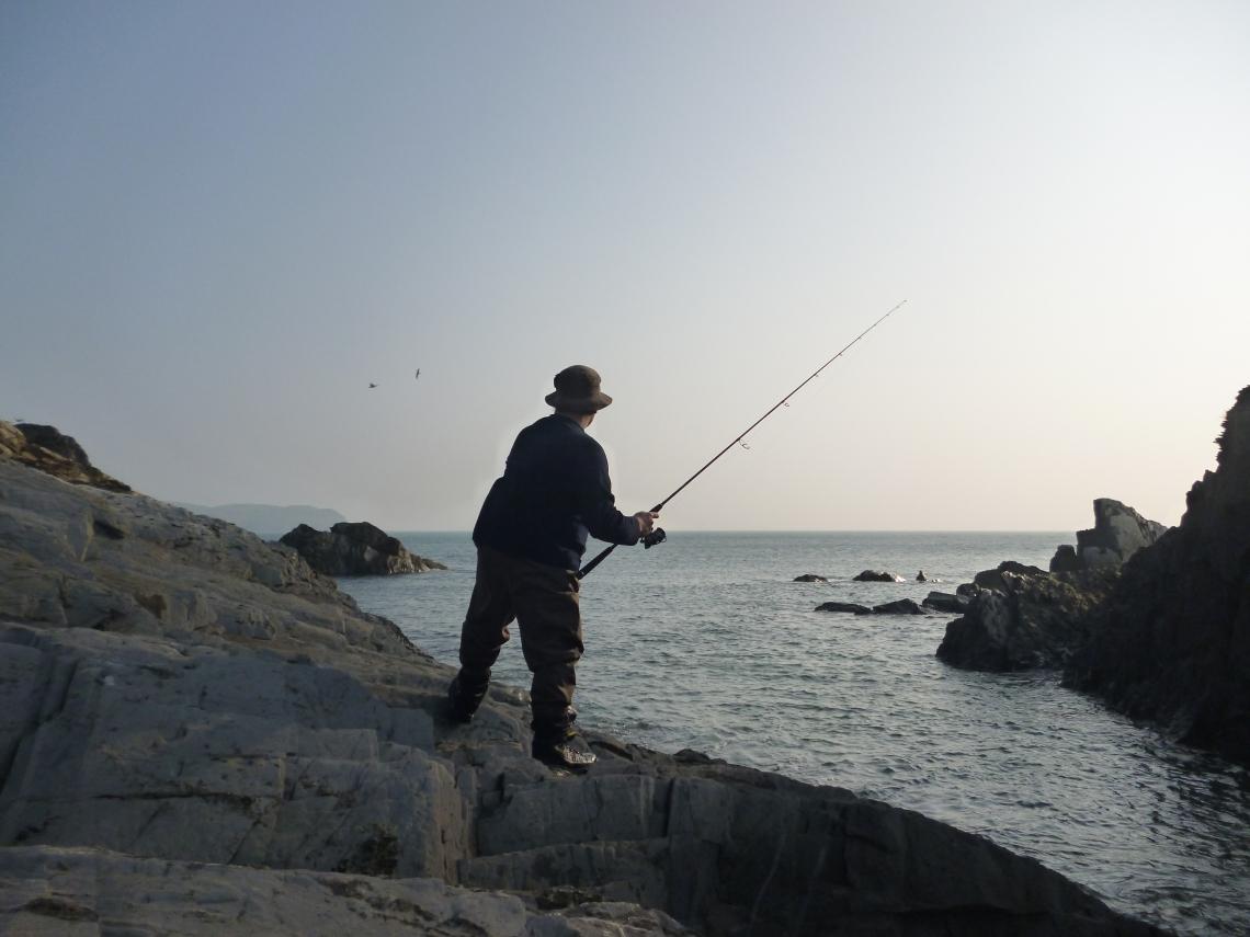 Lure fishing in Devon