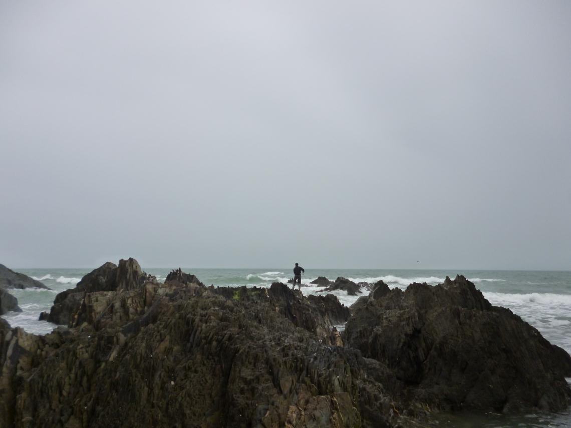 Rock marks in Devon bass fishing