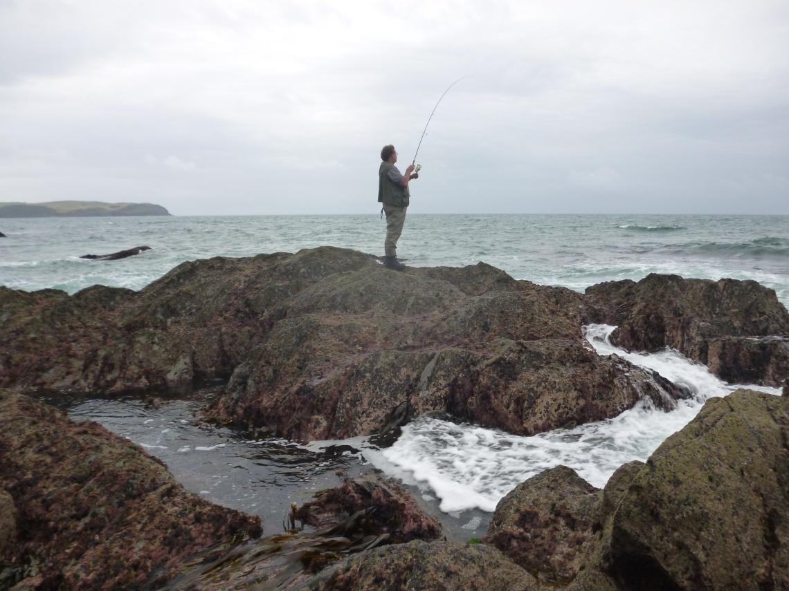 Bass fishng in Devon