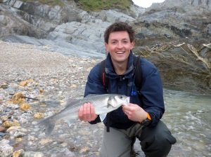 Bass fishing with the south Devon Bass Guide