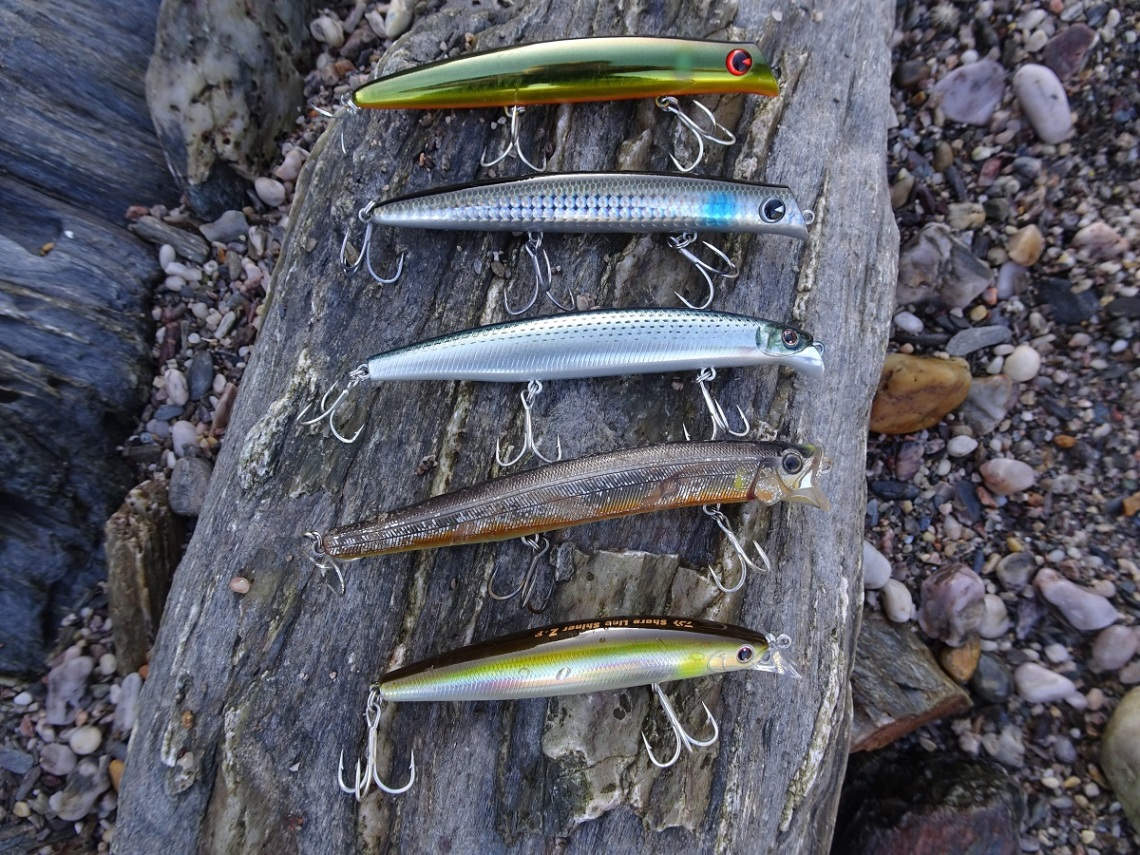 Shallow swimming lures