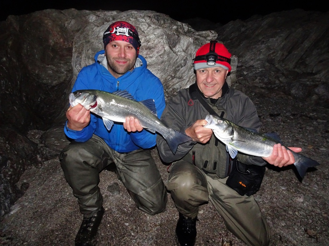 Doule hook up of bass at south devon bass guide