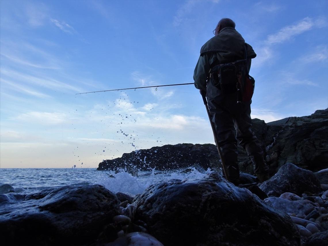 Bass fishing in Devon