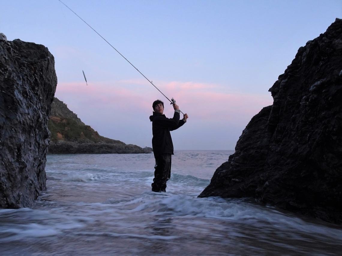 Fishing witha Savage Gear Line Thru Sandeel