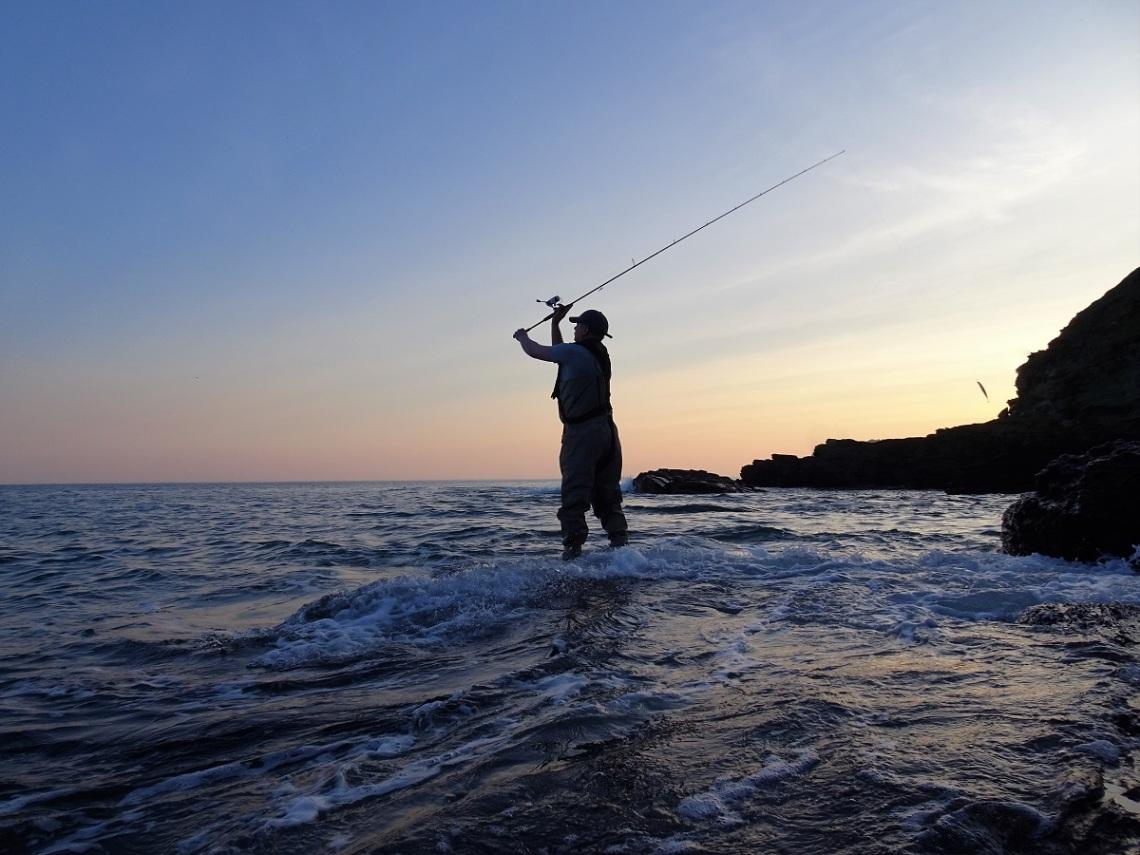 Lure fishing for bass at dsuk