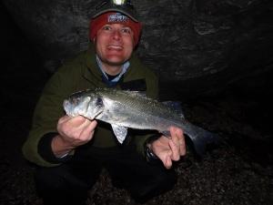 Early season bass on needlefish