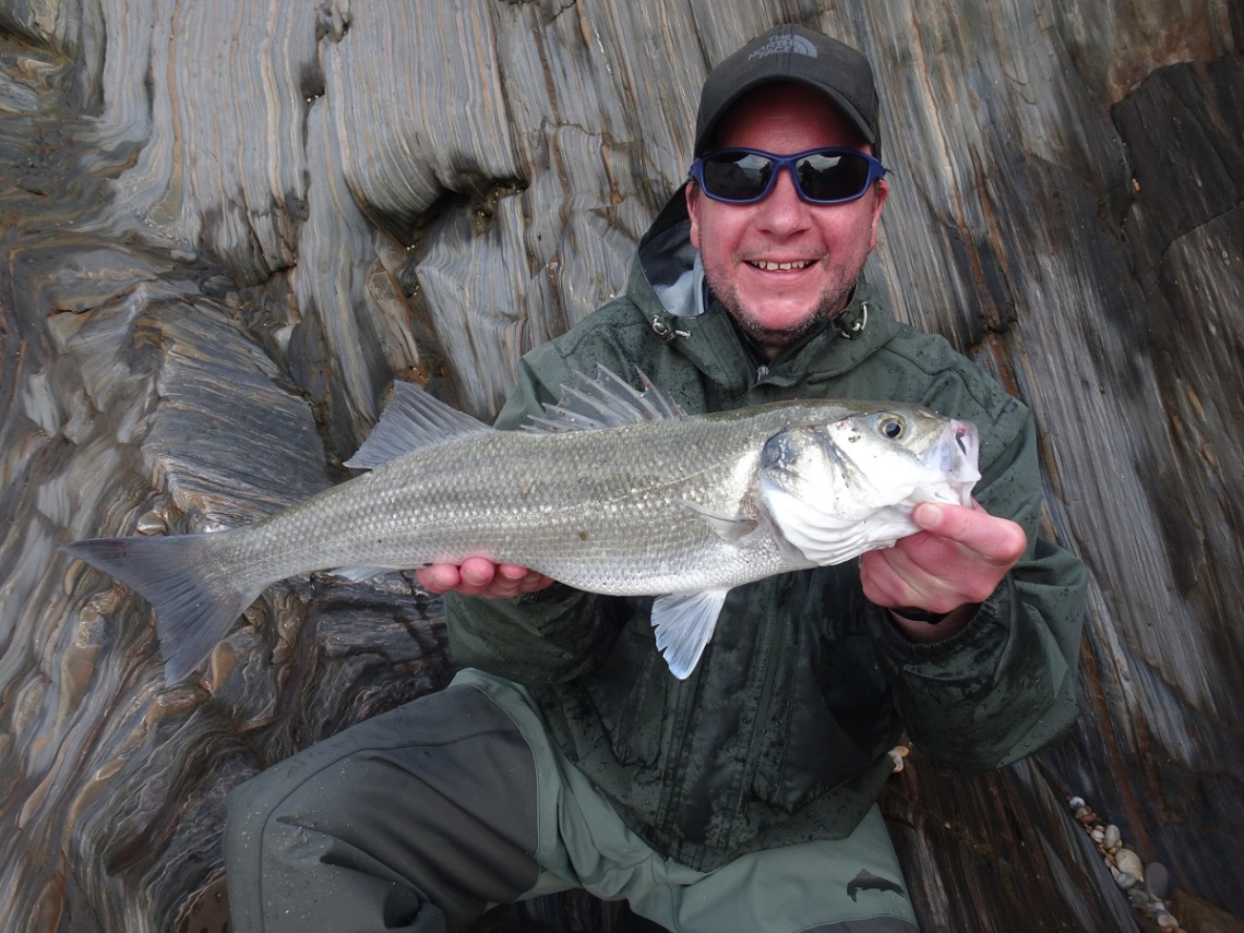 Bass on lures in rough seas