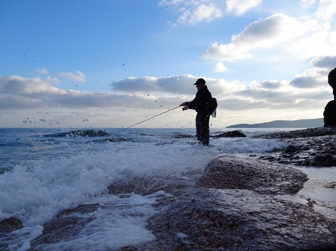 Bass lure fishing Devon